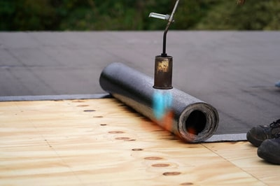 Torch-on roof installation